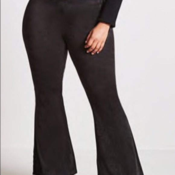 Forever 21 suede plus size pants flare bottom 3x NWT